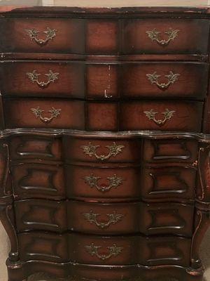 Antique Dresser and Armoire Solid Wood for Sale in Jonesboro, GA
