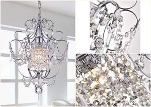 NEW Hanging Chandelier Crystal Raindrop Chrome Silver Ceiling Light Lamp Bedroom Fixtures Modern for Sale in Seattle, WA