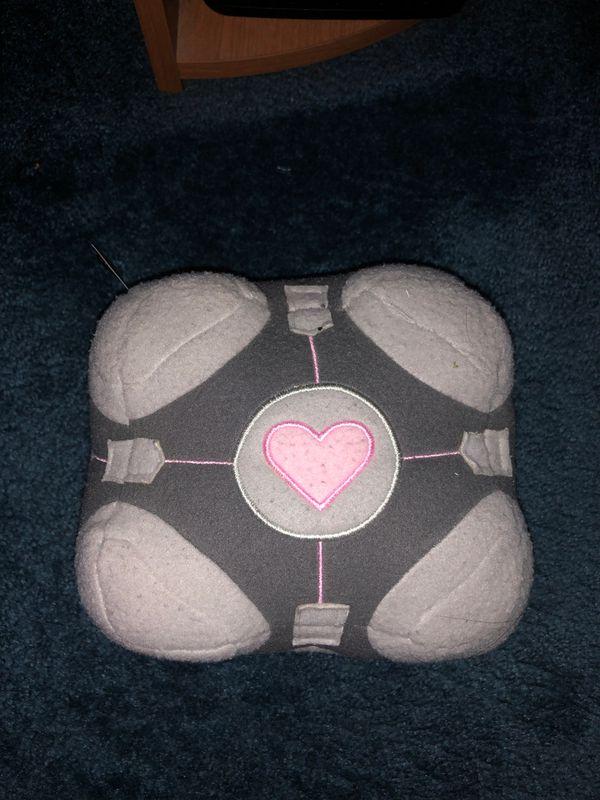 Portal Companion Cube Plushie Used