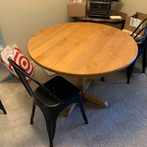 Round Pine Table for Sale in Portland, OR