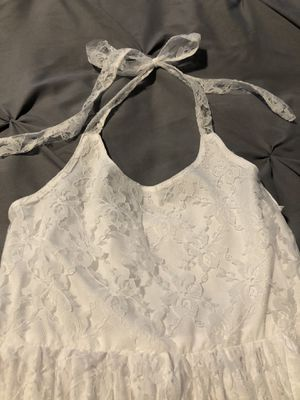 Girls lace white dress - flower girl size 12 for Sale in Chesterfield, VA