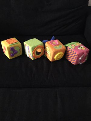 Four soft blocks for baby for Sale in Washington, DC