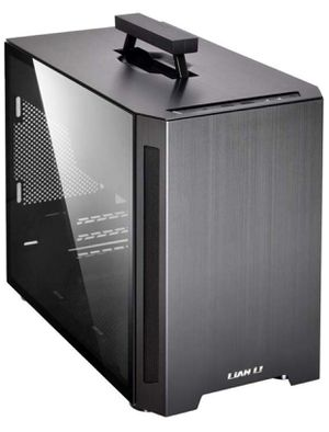 Gaming Desktop ITX Case Lian Li TU 150 Black Aluminum Tempered Glass Computer Case for Sale in San Antonio, TX