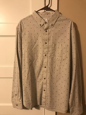 ***OLD NAVY MEN'S LONG SLEEVE BUTTON UP WITH SMALL DIAMOND PRINT SIZE XL- TAN** for Sale in Portland, OR