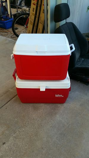2 red coolers excellent condition for Sale in Scottsdale, AZ