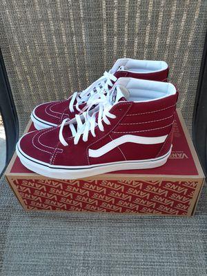 Van's Sk8-HI Tennis Shoes Men Size 8.5 for Sale in Riverside, CA