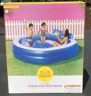 SUN SQUAD Inflatable Family Pool With Bench for Sale in Springfield, VA