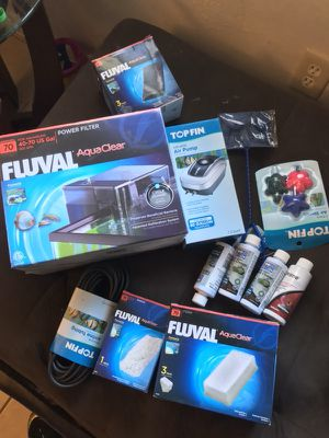 Fish tank brand new materials and pumps for Sale in Miami, FL