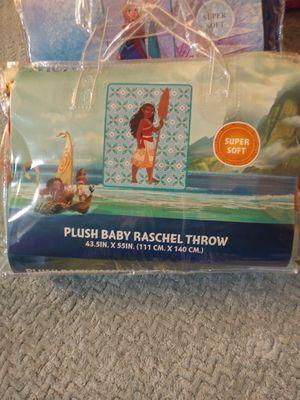 Moana plush raschel throw baby blanket for Sale in Jurupa Valley, CA