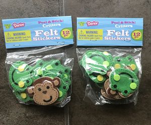 Monkey & Frog Felt Stickers for Sale in Hialeah, FL