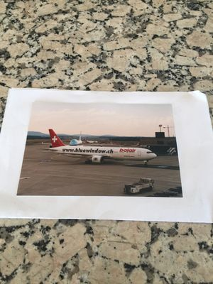 Swiss Airline 4+6 inch color photograph for Sale in Los Angeles, CA