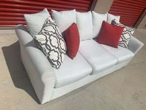 Can deliver - ivory white couch sofa 1pc for Sale in Burleson, TX