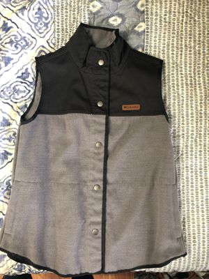 Columbia, black and gray vest (L) for Sale in Germantown, MD