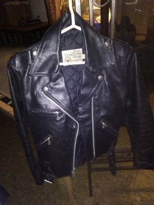 Size 10 boy's genuine cowhide motorcycle jacket for Sale in Hampton, GA
