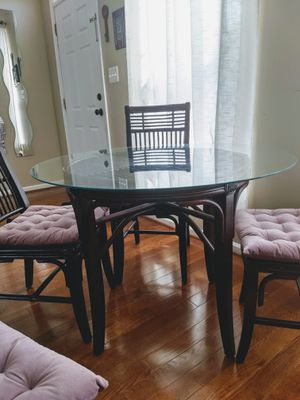 Bamboo glass top dining table for Sale in Leesburg, VA