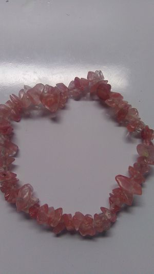 Pink Quartz Gemstone Bracelet for Sale in Greensburg, PA