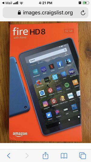 Amazon Kindle Fire HD 8 Tablet 32 GB 10th Generation LATEST Model BLACK with case for Sale in Irving, TX