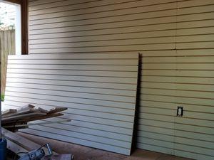 2- 4x8 ft Slatwall Sheets for Sale in Lawrenceville, GA