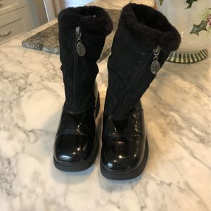 Girls Snow Winter Boots Black Fur 3M for Sale in Issaquah, WA