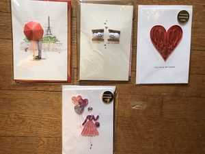 Lot of four 3D hand made Valentines cards! (B) for Sale in Washington, DC