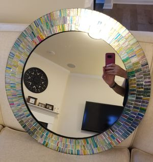 Round Mosaic Wall Mirror for Sale in Apex, NC