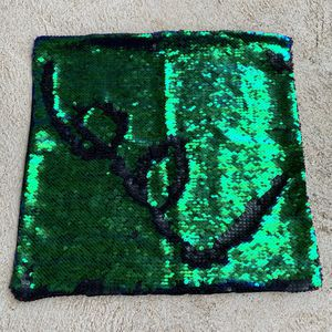 Black & Green Sequin Pillow Case for Sale in Barnhart, MO