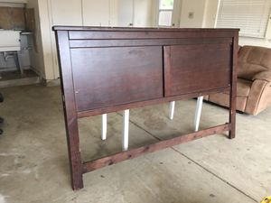King size wood headboard for Sale in Grover Beach, CA