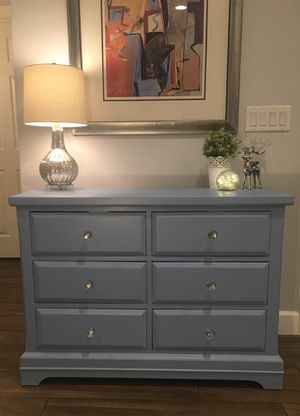 Just Refinished! Beautiful Solid Wood Piece 6-Drawer Farmhouse Shabby Chic Rustic Credenza-Buffet-Sideboard-Dresser-Entry Table-Media Console for Sale in Phoenix, AZ