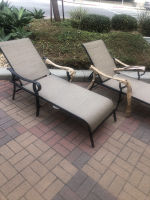 TWO DELUXE OUTDOOR PATIO POOL LOUNGE CHAIRS for Sale in Anaheim, CA