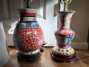 Two Chinese Porcelain Table Lamps for Sale in Redmond, WA