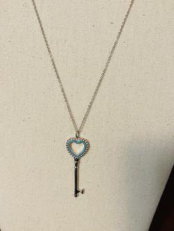 Tiffany & Co Beaded Heart Key Pendant Genuine for Sale in Seattle,  WA