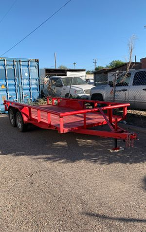 16' trailer with dual 3500# axels and trailer brakes. Almost new for Sale in Tempe, AZ