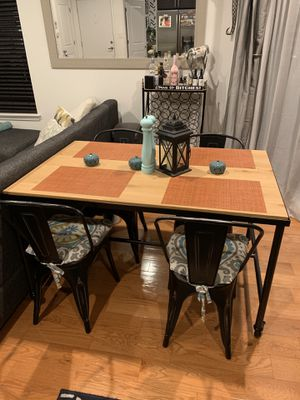 Farmhouse/industrial dining table on casters for Sale in Philadelphia, PA