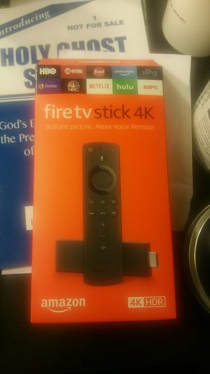 Jail broken firetv stick 4k with alexa voice remote for Sale in Laurel, MD