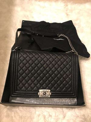 Sz Large Leather Chanell Boy Bag for Sale in Fairfax, VA