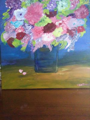 Flowers in clear vase painting for Sale in Festus, MO