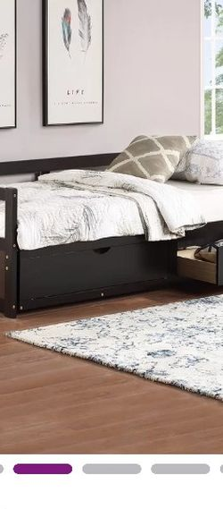 Twin To king sized Daybed Espresso for Sale in Queens,  NY