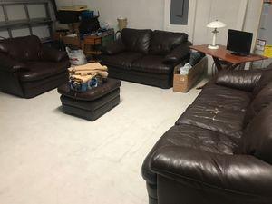 Living room set leather for Sale in Homestead, FL