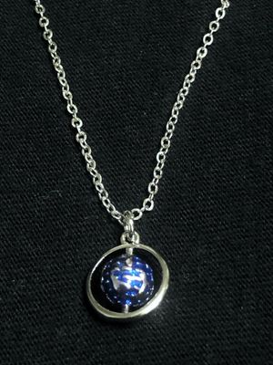 Sterling Silver Necklace / Blue Sphere for Sale in Las Vegas, NV