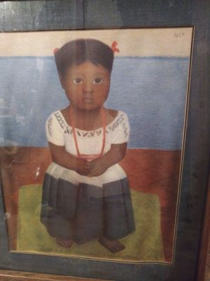(c) 1927 Print Black Mexican child Folk Art of a. Child for Sale in St. Louis, MO