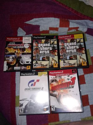 PS2 lot of 5 games for Sale in Everett, WA