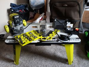 Newer Router table and Router w/bits and standing drill press for Sale in Sturgis, MI