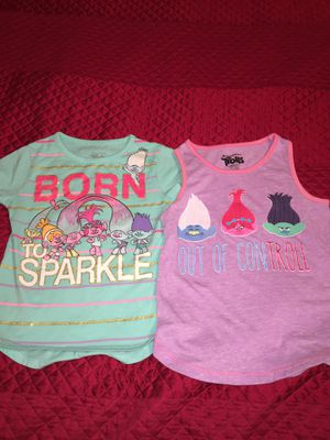 2 Trolls Shirts Size 4/5 for Sale in Pembroke Pines, FL
