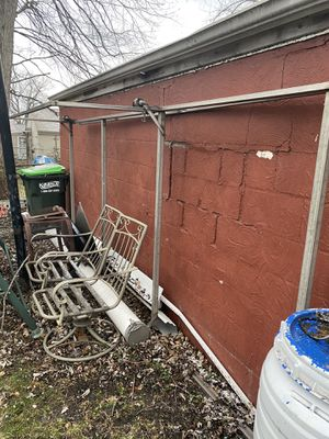 Stainless steel ladder rack w/straps . for Sale in Eastlake, OH