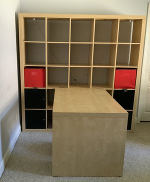 Large IKEA Wall Storage Unit with Desk & Chair for Sale in Merritt Island, FL