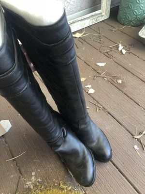 New long boots size 7 with heels real leather for Sale in La Habra Heights, CA