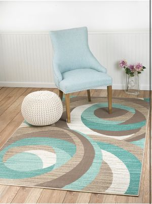 Cream Turquoise rug for Sale in Kearny, NJ