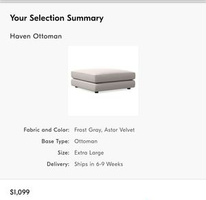 West Elm - Haven XL Ottoman for Sale in Benicia, CA