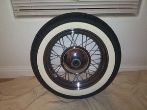 Harley davidson front wheel and tire for Sale in Fresno, CA