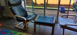 IKEA poang set of 2 chairs and a ottoman for Sale in San Jose, CA